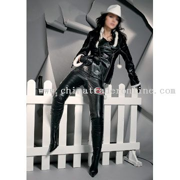 Patent Cow Leather Jacket