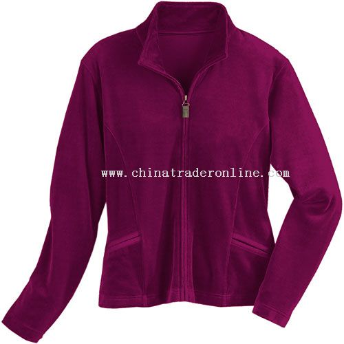 Womens Velour Track Jacket