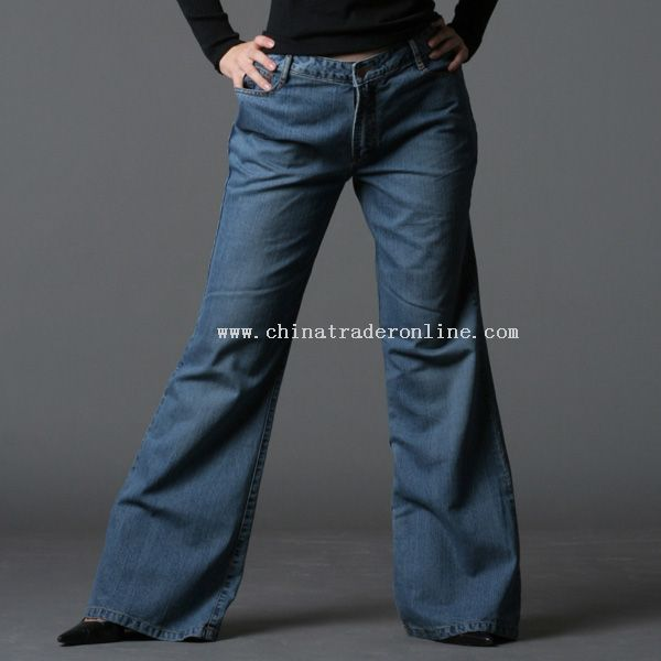 Womens 100% Cotton Jeans from China