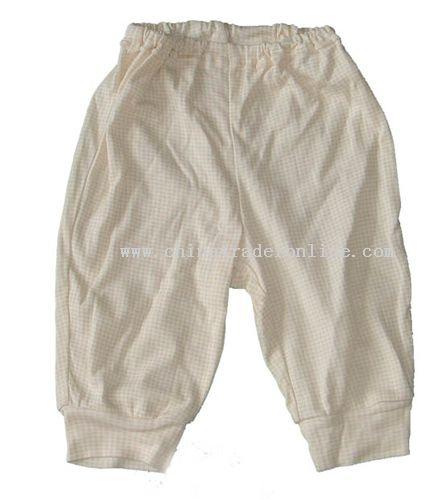 Khaki Check Pants