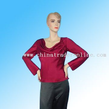 Ladies Long Sleeve Cowl Neck Blouse