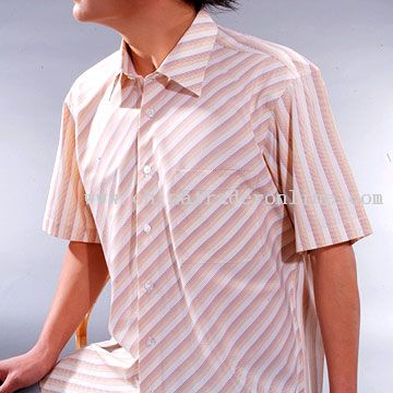 Mens Stripe Dress Shirt