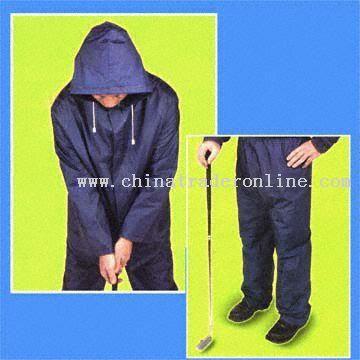 Popular PVC Golf Rainsuit from China