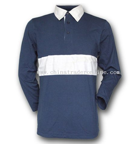 Jersey Fabrics Long Sleeves Polo T-shirts