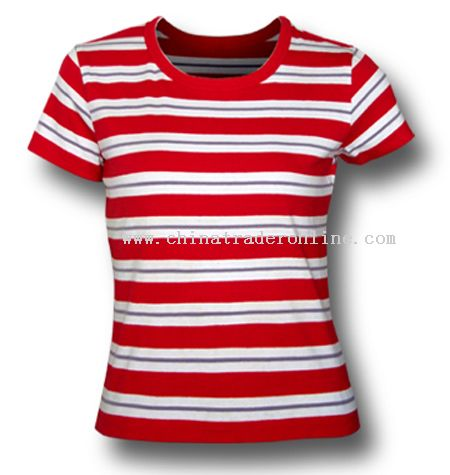 Ladies Yarn Dyeing T-shirts