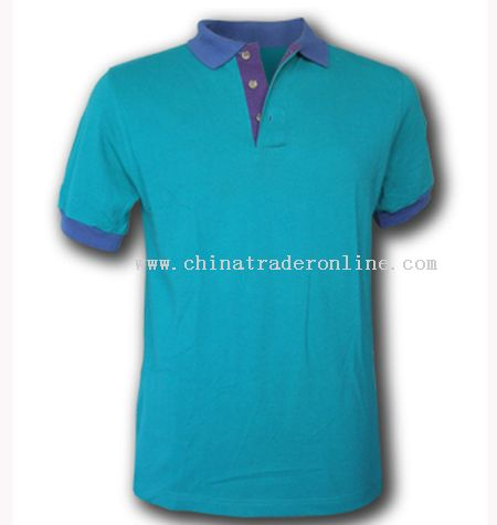 Polo Shirt With Contrasted Color Collar