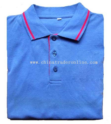 Polo Shirts With Stripes collar and cuffs
