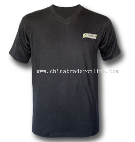 V-neck T-shirts with Embroidery