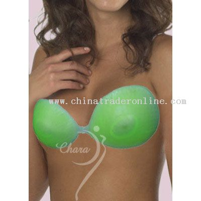 Backless and Strapless breast-enhancing silicone bra