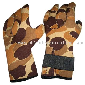 Neoprene Hunting Gloves Camouflage from China