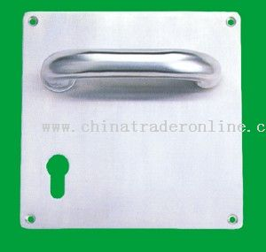 Lever handle with plate stainless steel tube