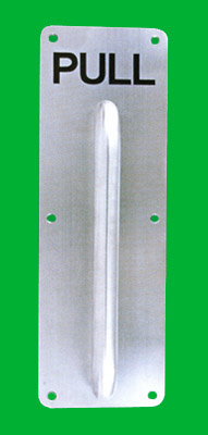 Stainless steel pull handle with retangular plate