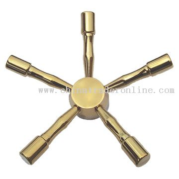 Titanium Plated Five Prong Spindle Wheel