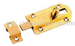 Brass flat bolt