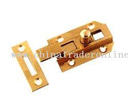 Brass necked flat bolt