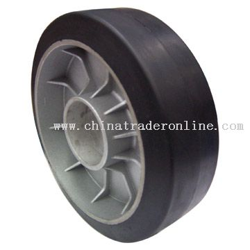 Rubber Wheel with Aluminium Center