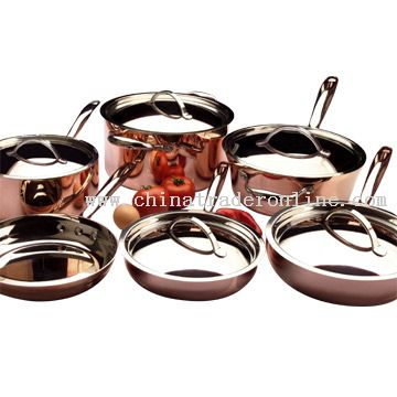 11pc Tri-Ply Cookware Set