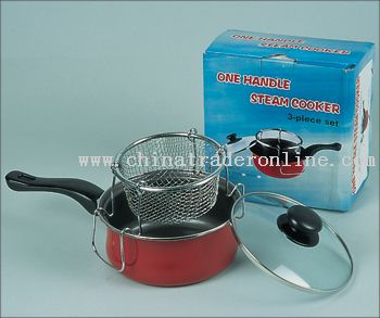 3pcs steam cooker