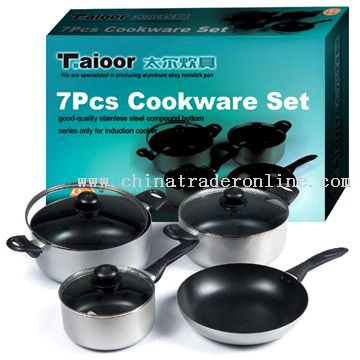 7pcs Non-Stick Cookware Set