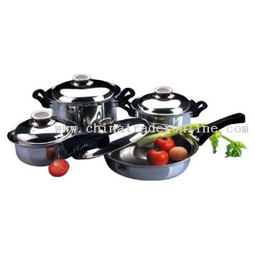 8pc Tri-Ply Cookware Set