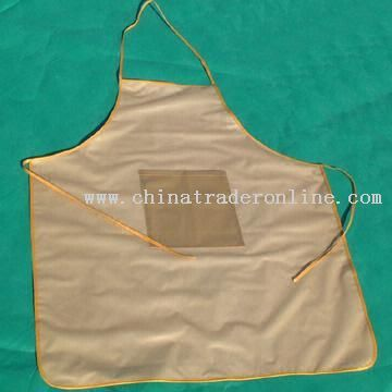 Cooking Apron Available in Different Sizes and Colors Made of Fabric and PVC Film