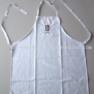 Cotton Fabirc Apron with Embroidered Design and Silk Screen Printing