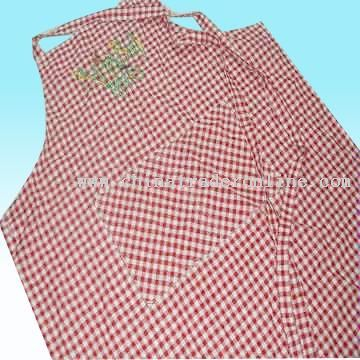 Yarn-dyed Gingham Apron in Checked Design