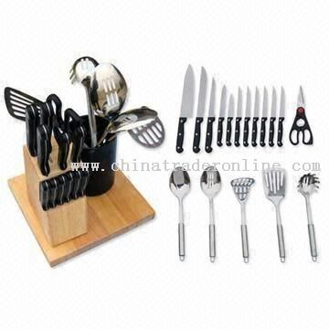 20-piece Kitchen Knife Set with Bakelite Handle