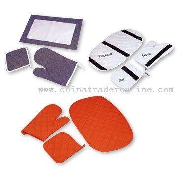 Mat, Glove, & Placemat Set