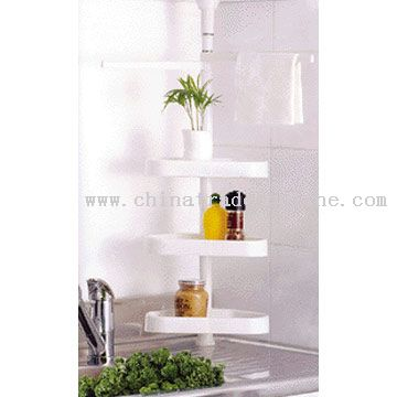 Kitchen Cabinet Pole Shelf