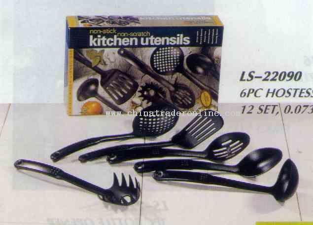 6 Pc Nylon Kitchen Tool