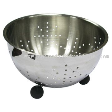 Colander with Ball Shaped Base
