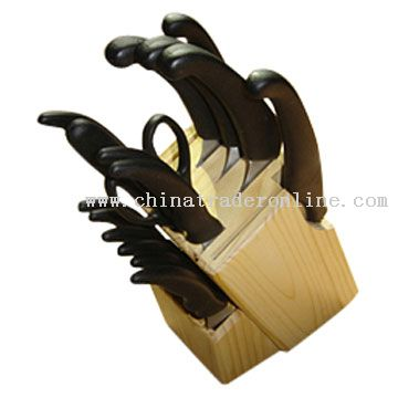 16pcs Knife Set with Wooden Block