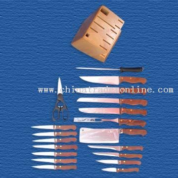 20-Piece Knife Block Set from China