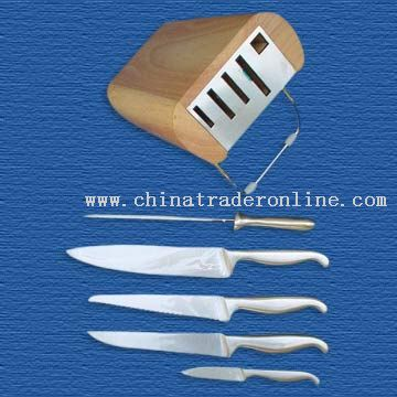 6-Piece Knife Block Set from China