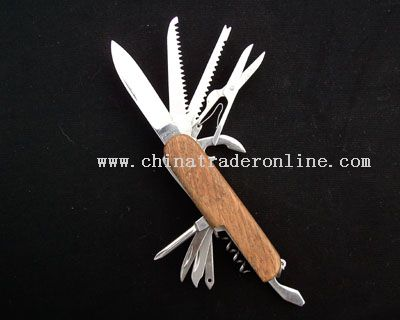 Wooden Handle Multi-functional Kinfe