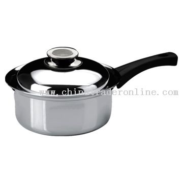 18cm Sauce Pan with Long Bakelite Riveted Handle