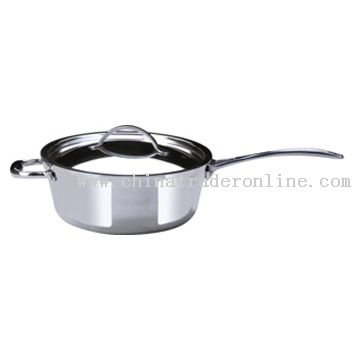 26CM Casserole Stainless Steel Outside