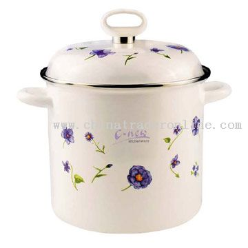 2pcs Casserole with Metal Cover Decor