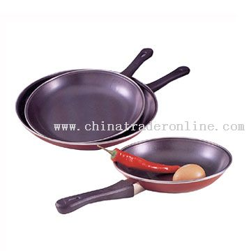 3pc Frying Pan Set w/Euro Handle