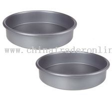 Technique Set of 2 Nonstick Round Cake Pans