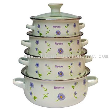 10pcs Casserole with Glass Cover Decor