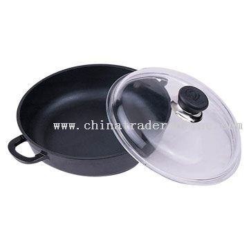 High Body Frying Pan with Glass Cover