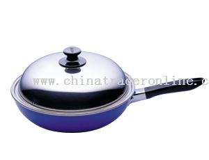 High Dome Stainless Steel Lid Wok