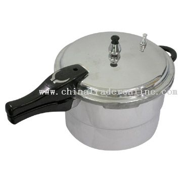 Polished, Two-Section Pressure Cooker