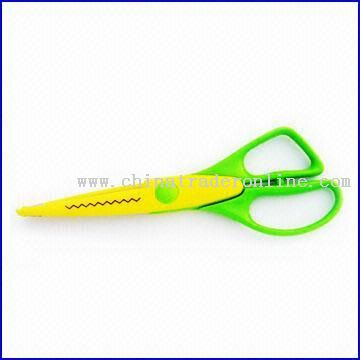 ABS Craft Scissors in Yellow and Green Colors