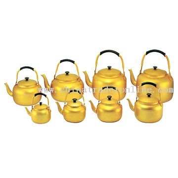 Aluminum Golden Tea Kettles