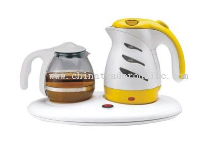 Set of Electric Kettle with Tea Pot and Heat base