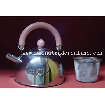 Stainless Steel Tea Pot with a Strainer