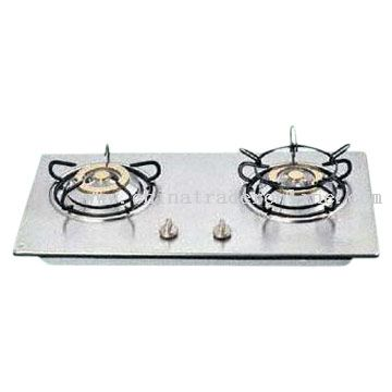 Built-in Double-Burner Gas Stove with Safety Device